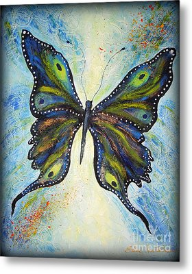 My Peacock Butterfly Metal Print by Elena  Constantinescu