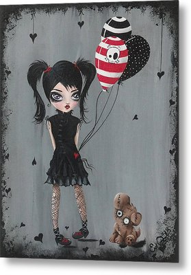 My Pet Monster Metal Print by Oddball Art Co by Lizzy Love
