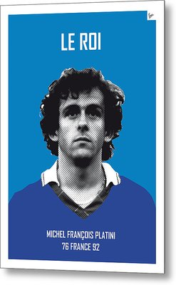 My Platini Soccer Legend Poster Metal Print by Chungkong Art