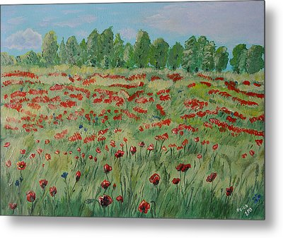 My Poppies Field Metal Print