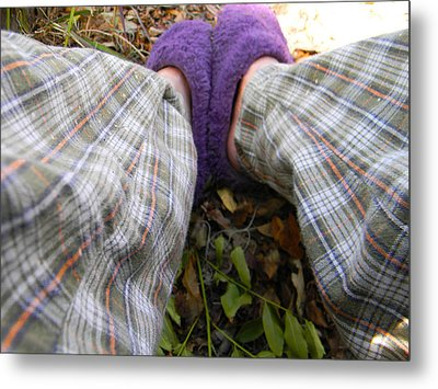 My Purple Slippers Metal Print by Christy Usilton