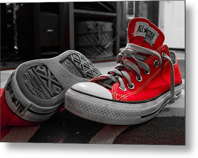 My Red All Stars Metal Print