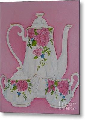 My Royal Doulton  English Rose Teaware Metal Print