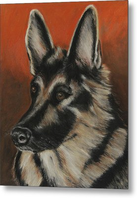 Metal Print featuring the painting My Sadie by Jeanne Fischer