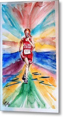 My Sarah Running Cross Country Metal Print by Richard Benson