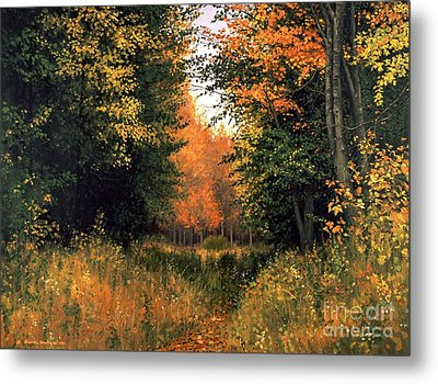My Secret Autumn Place Metal Print