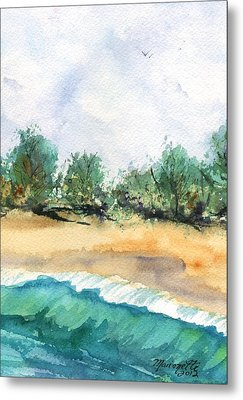 Metal Print featuring the painting My Secret Beach by Marionette Taboniar