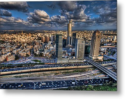 Metal Print featuring the photograph My Sim City by Ron Shoshani