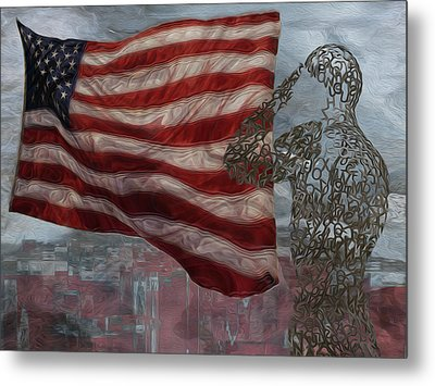 My Salute To The Unknown Metal Print by Jack Zulli
