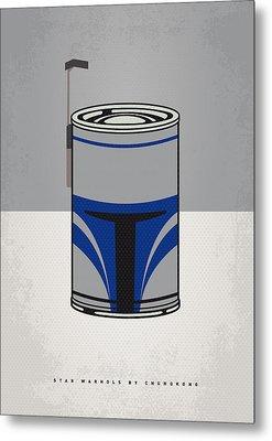 My Star Warhols Jango Fett Minimal Can Poster Metal Print
