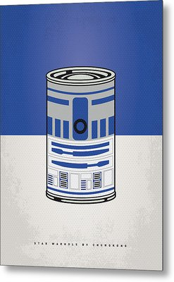 My Star Warhols R2d2 Minimal Can Poster Metal Print by Chungkong Art