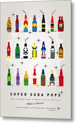 My Super Soda Pops No-00 Metal Print by Chungkong Art