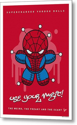 My Supercharged Voodoo Dolls Spiderman Metal Print by Chungkong Art