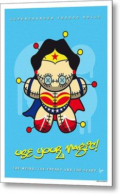 My Supercharged Voodoo Dolls Wonder Woman Metal Print by Chungkong Art