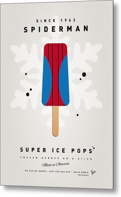 My Superhero Ice Pop - Spiderman Metal Print by Chungkong Art