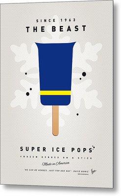 My Superhero Ice Pop - The Beast Metal Print by Chungkong Art
