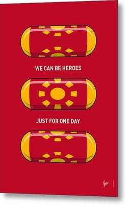My Superhero Pills - Iron Man Metal Print by Chungkong Art