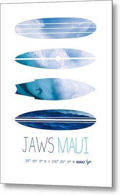 My Surfspots Poster-1-jaws-maui Metal Print by Chungkong Art