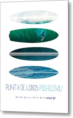 My Surfspots Poster-3-punta De Lobos-chile Metal Print by Chungkong Art