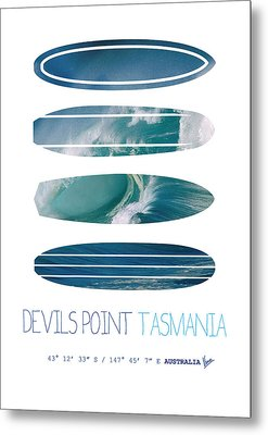 My Surfspots Poster-5-devils-point-tasmania Metal Print