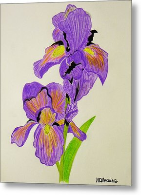 My Sweet Iris Metal Print by Celeste Manning