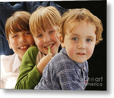 My Three Grandsons Metal Print