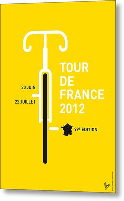 My Tour De France 2012 Minimal Poster Metal Print