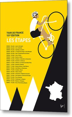 My Tour De France Minimal Poster 2014-etapes Metal Print
