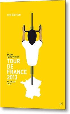 My Tour De France Minimal Poster Metal Print