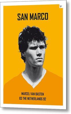My Van Basten Soccer Legend Poster Metal Print