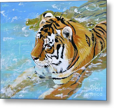 My Water Tiger Metal Print by Phyllis Kaltenbach