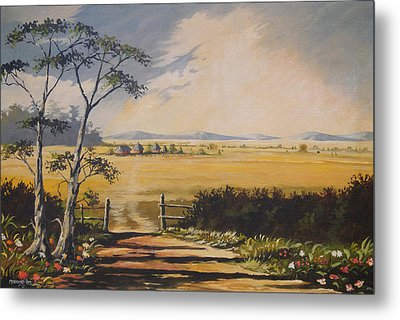 Metal Print featuring the painting My Way Home by Anthony Mwangi
