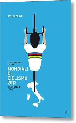 My World Championships Minimal Poster Metal Print