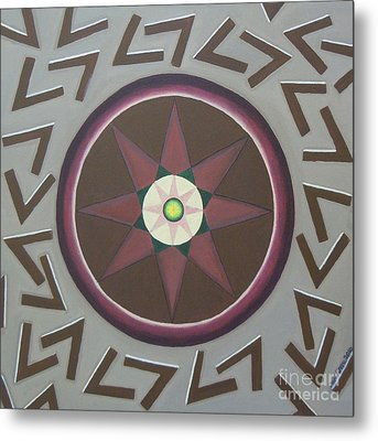 Metal Print featuring the painting My Yantra by Mini Arora