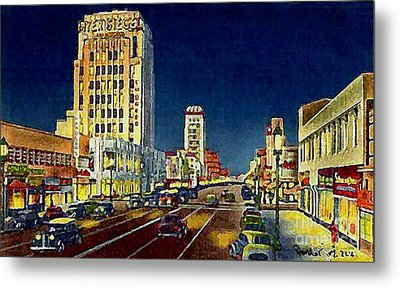 Myer- Siegel Department Store And The Miracle Mile In Los Angeles Ca Around 1940 Metal Print