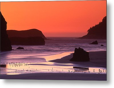Myers Creek Sunset Metal Print