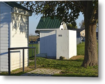 Boys Outhouse Metal Print
