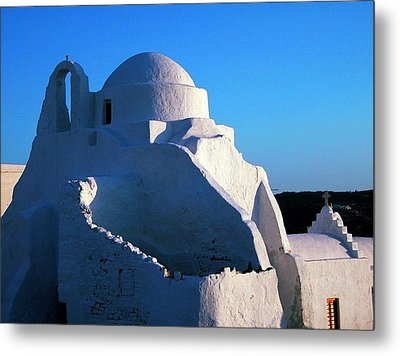 Metal Print featuring the photograph Mykonos Island Greece by Colette V Hera  Guggenheim
