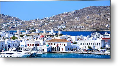 Mykonos Port Metal Print by Corinne Rhode