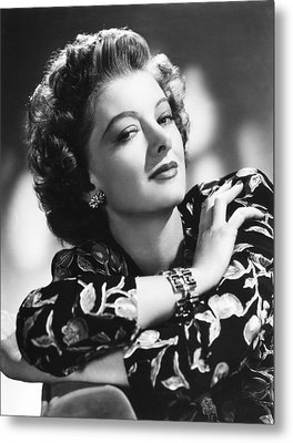 Myrna Loy, Mgm Portrait, 1940s Metal Print by Everett