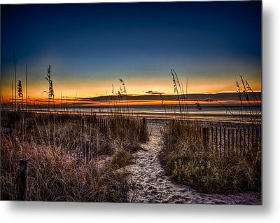 Myrtle Beach Path Metal Print by Joshua Minso