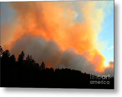 Myrtle Fire Near Rifle Pit Road Metal Print by Bill Gabbert