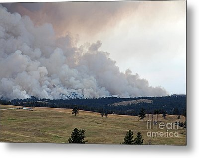 Myrtle Fire West Of Wind Cave National Park Metal Print by Bill Gabbert