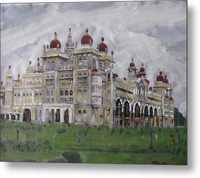 Metal Print featuring the painting Mysore Palace by Vikram Singh