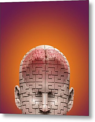 Mysteries Of The Mind Metal Print by Tim Vernon