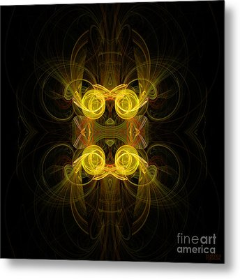 Metal Print featuring the digital art Mysterious Energy by Hanza Turgul