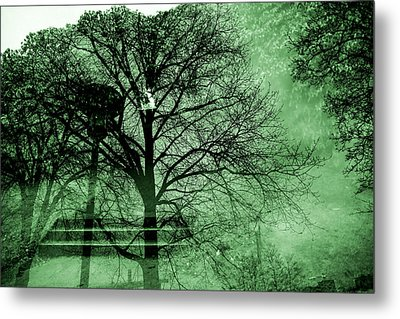 Mysterious Staircase Metal Print