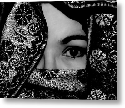 Mysterious Woman Metal Print by Michelle McPhillips