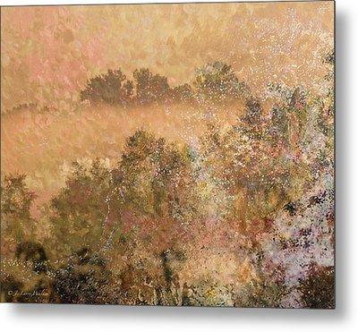 Mystery Swamp Sunrise Metal Print by J Larry Walker