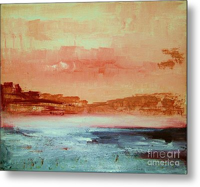 Metal Print featuring the painting Mystery Waters by Julie Lueders